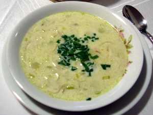 Sopa de alho-poró com batatas